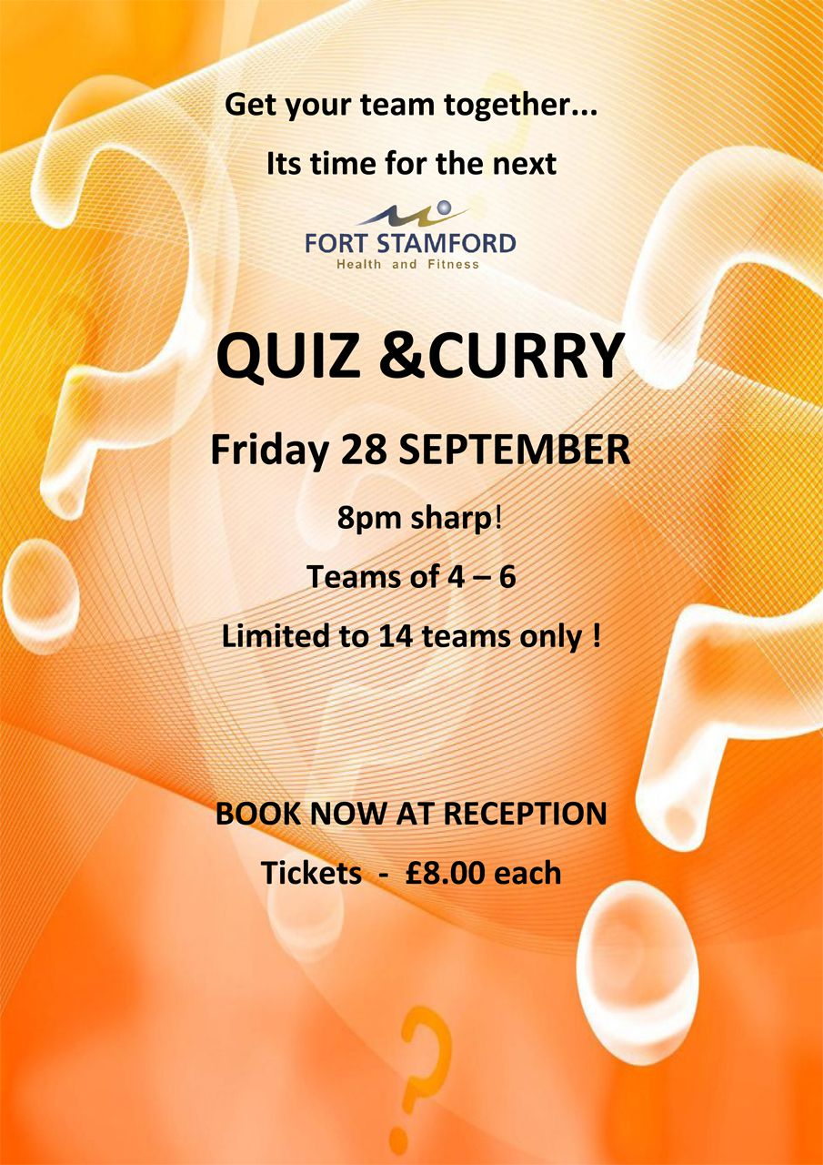 Curry and Quiz Night Poster